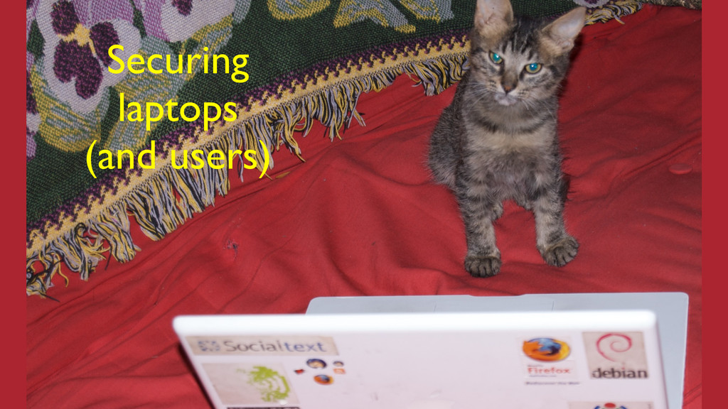 Securing  laptops  (and users)