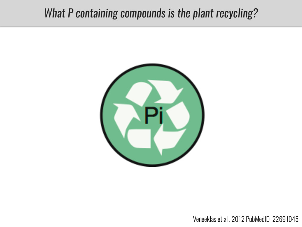 What P containing compounds is the plant recycl...