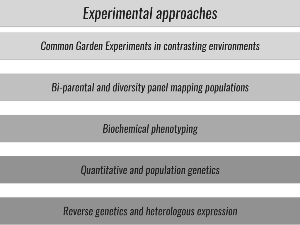 Experimental approaches Common Garden Experimen...