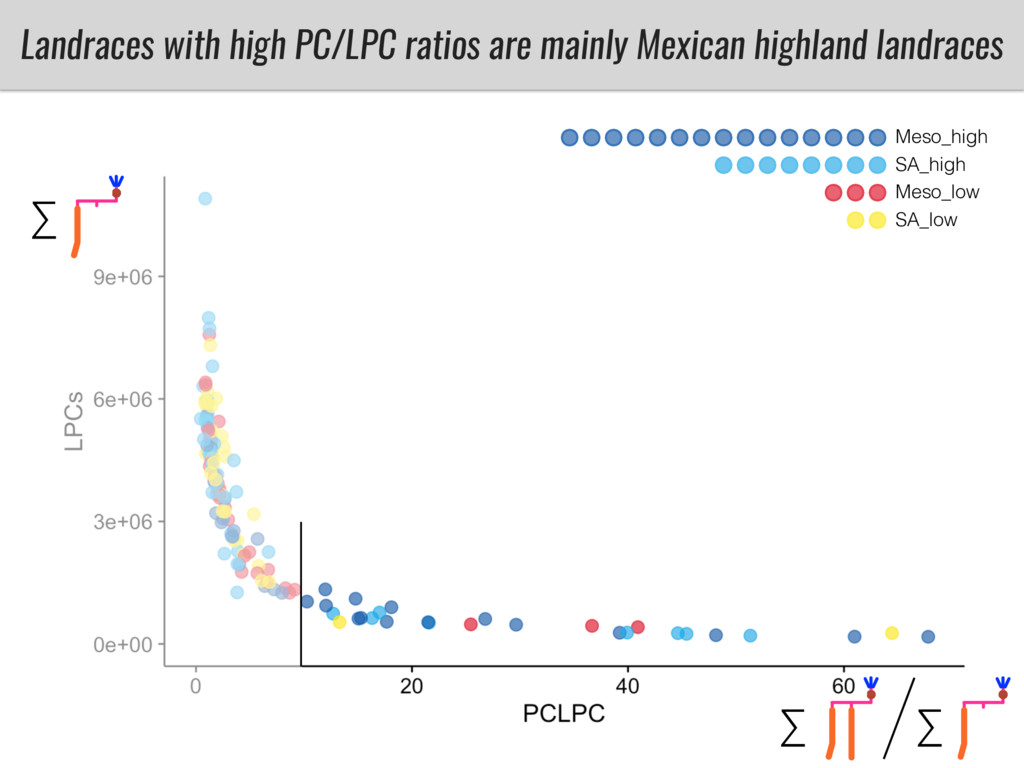 Landraces with high PC/LPC ratios are mainly Me...