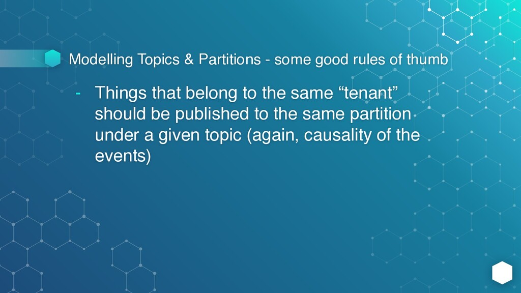 Modelling Topics & Partitions - some good rules...