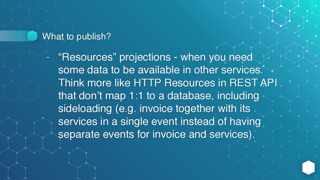 """What to publish? - """"Resources"""" projections - wh..."""