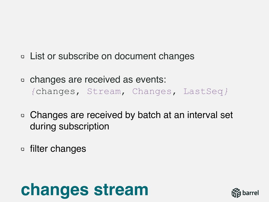 List or subscribe on document changes changes a...