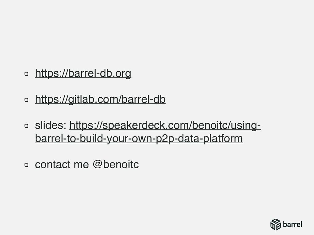 https://barrel-db.org https://gitlab.com/barrel...