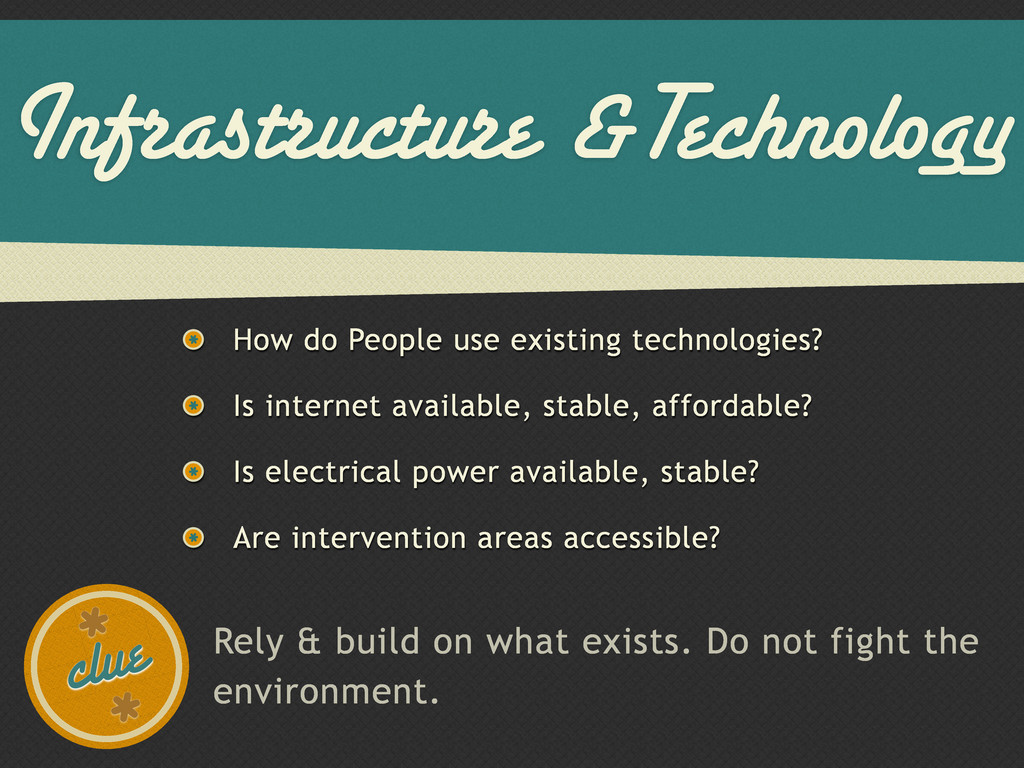 Infrastructure &Technology How do People use ex...