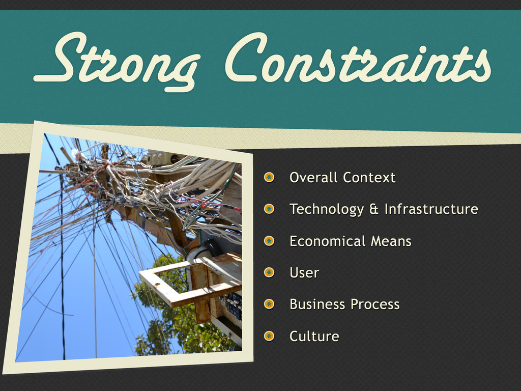 Strong Constraints Overall Context Technology &...