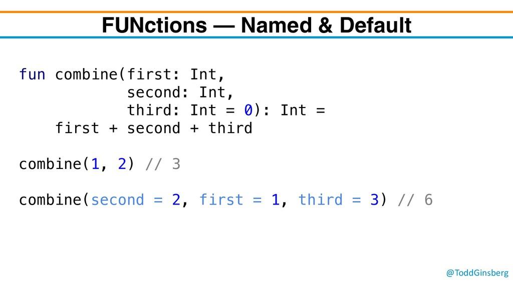 @ToddGinsberg FUNctions – Named & Default fun c...