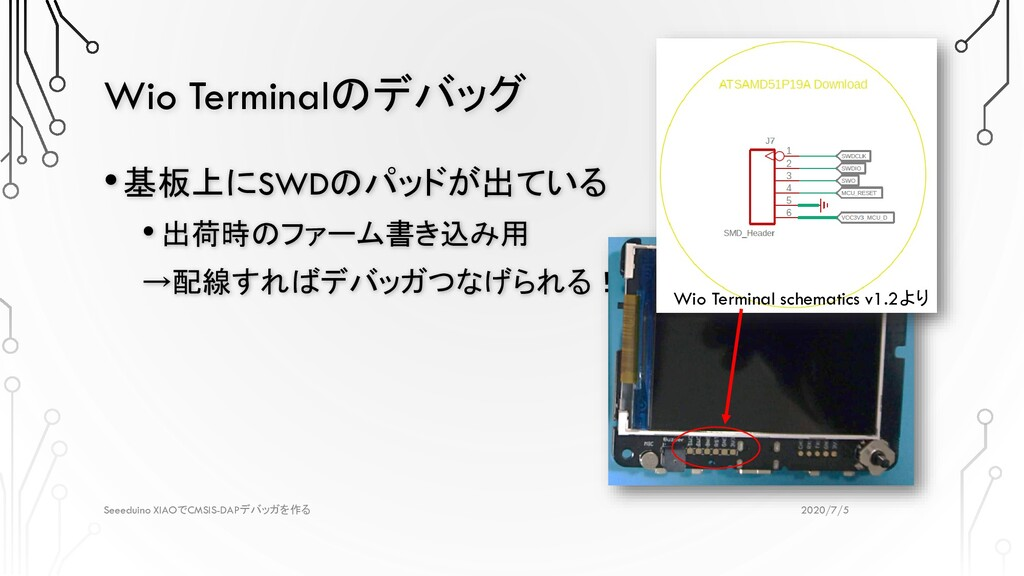 Wio Terminalのデバッグ 2020/7/5 Seeeduino XIAOでCMSIS...