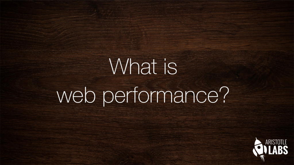 What is web performance?