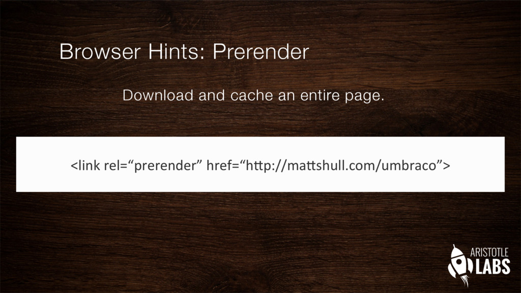 Browser Hints: Prerender