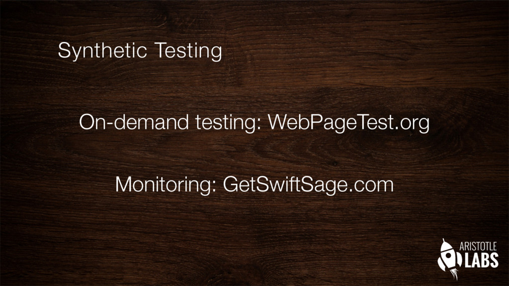 On-demand testing: WebPageTest.org