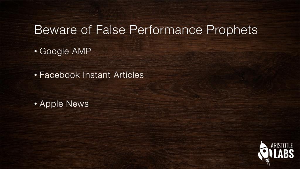 Beware of False Performance Prophets • Google...