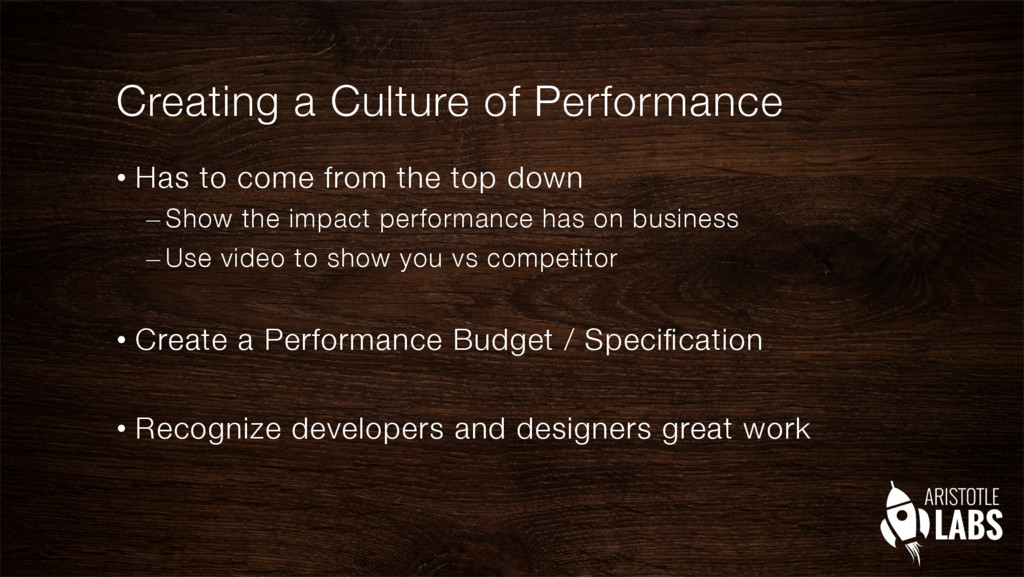 Creating a Culture of Performance