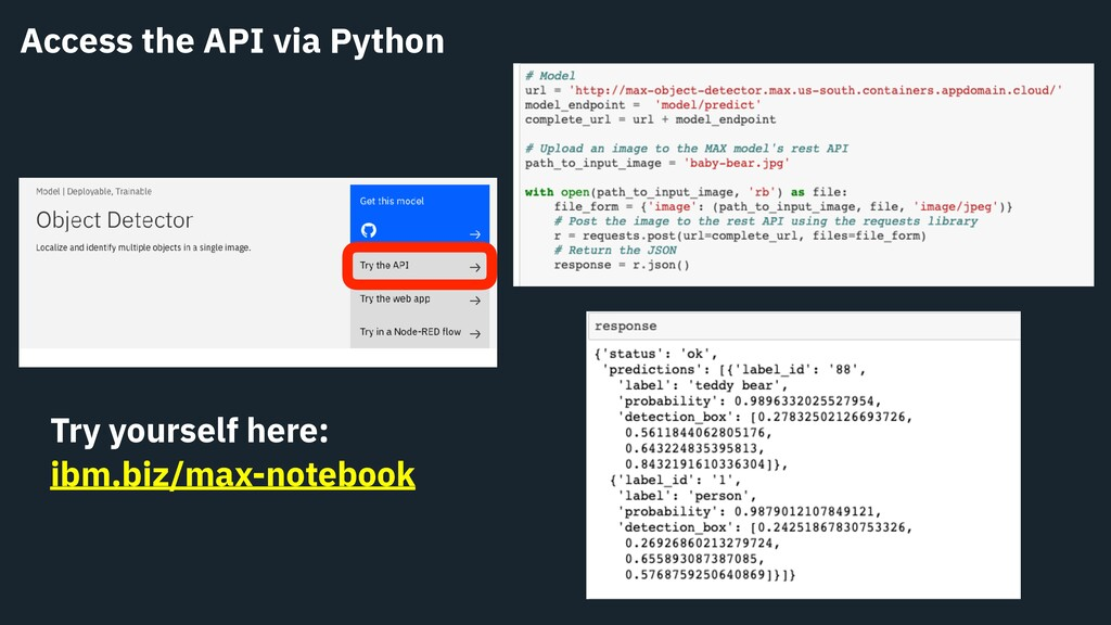 Access the API via Python Try yourself here: ib...