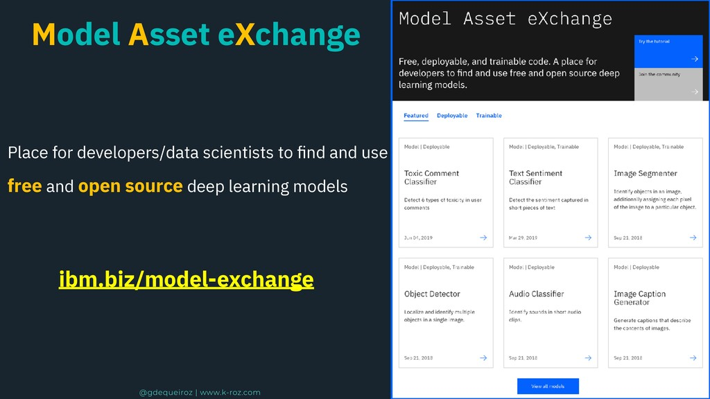 Model Asset eXchange Place for developers/data ...