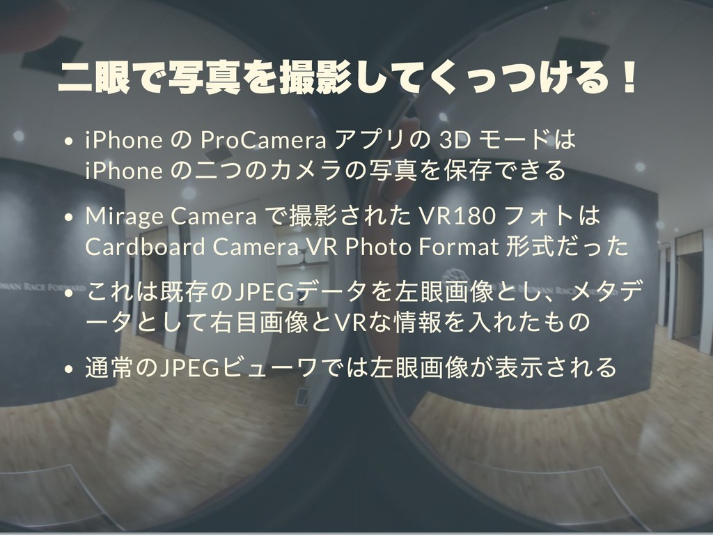 iPhone ProCamera 3D iPhone Mirage Camera VR180 ...