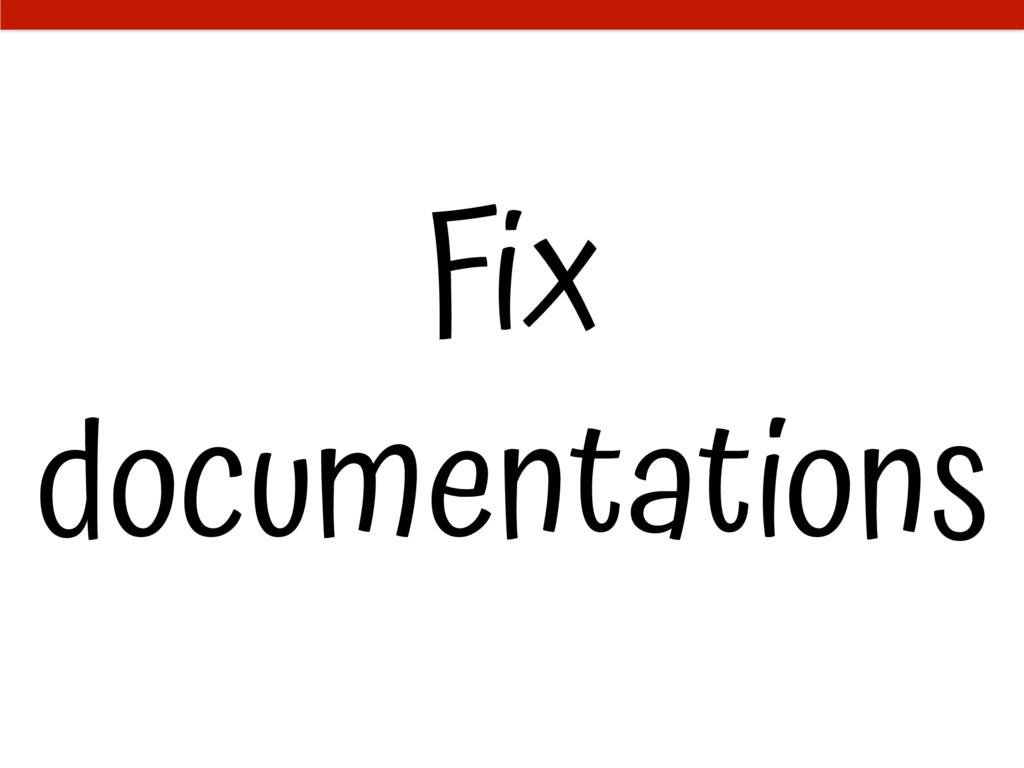 Fix documentations