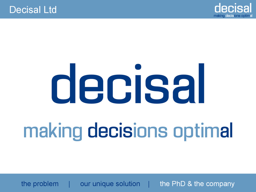 decisal making decisions optimal Decisal Ltd de...