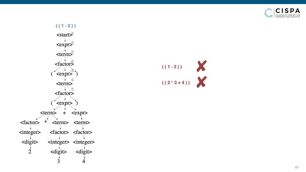 47 ( ( 1 - 2 ) ) c c c c c c c ✘ ( ( 1 - 2 ) ) ...