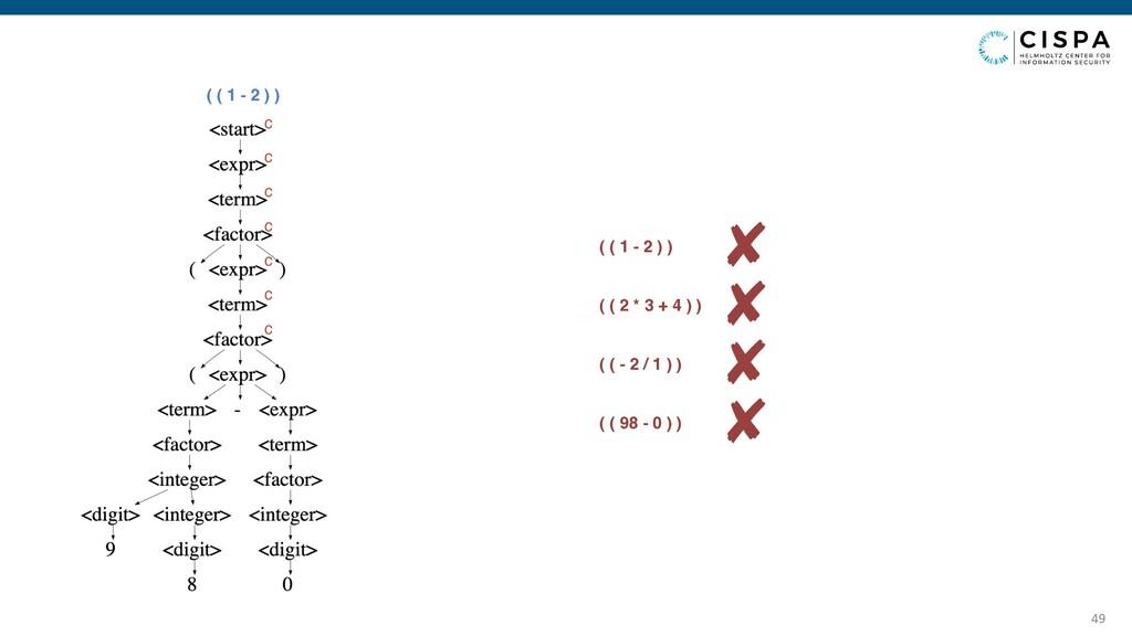 49 ( ( 1 - 2 ) ) c c c c c c c ✘ ( ( 1 - 2 ) ) ...
