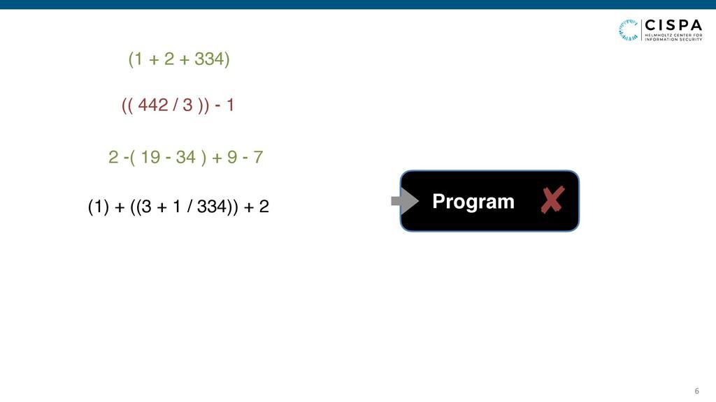 6 (1 + 2 + 334) Program (( 442 / 3 )) - 1 2 -( ...