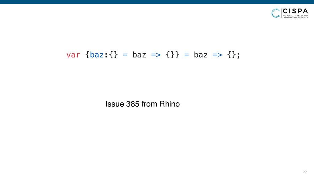 var {baz:{} = baz => {}} = <variableDeclaration...