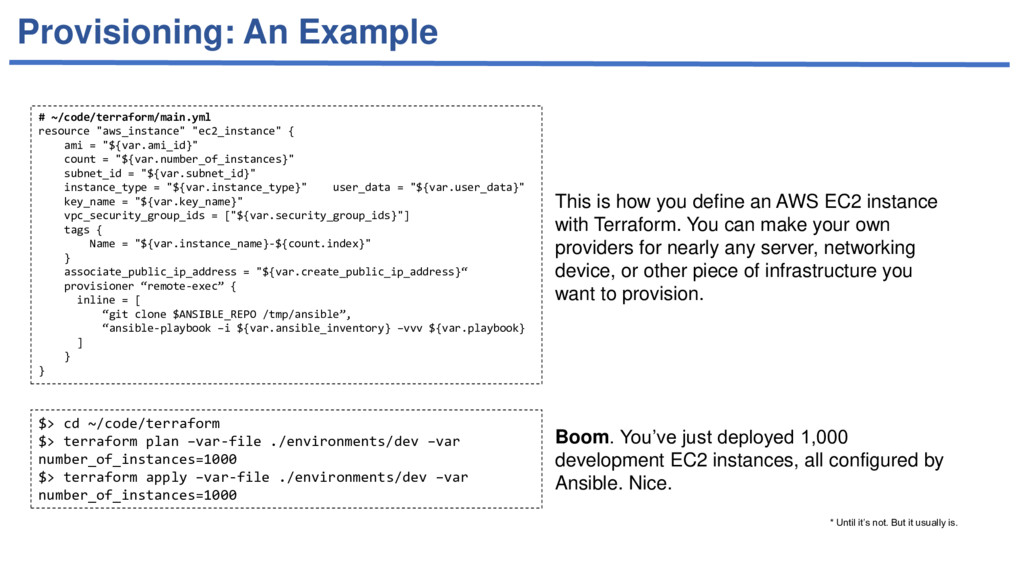 Provisioning: An Example # ~/code/terraform/mai...