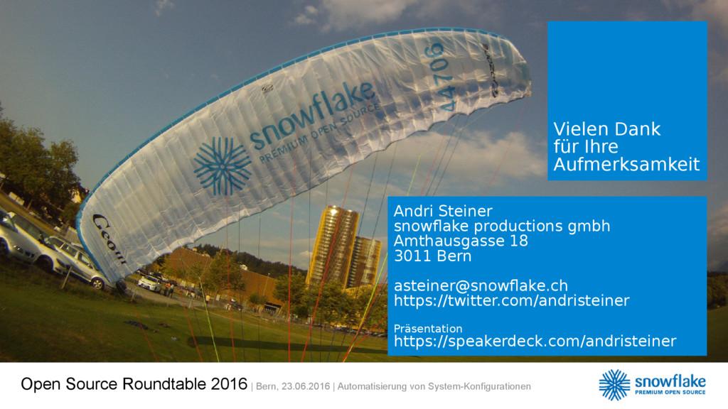 Open Source Roundtable 2016 | Bern, 23.06.2016 ...