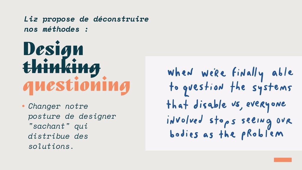 Design thinking questioning • Changer notre pos...