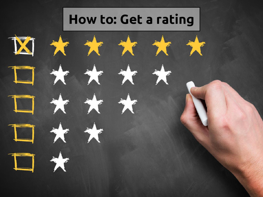 How to: Get a rating