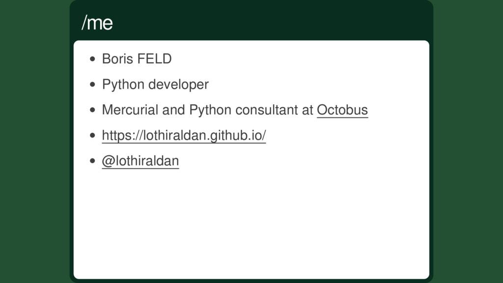 Boris FELD Python developer Mercurial and Pytho...