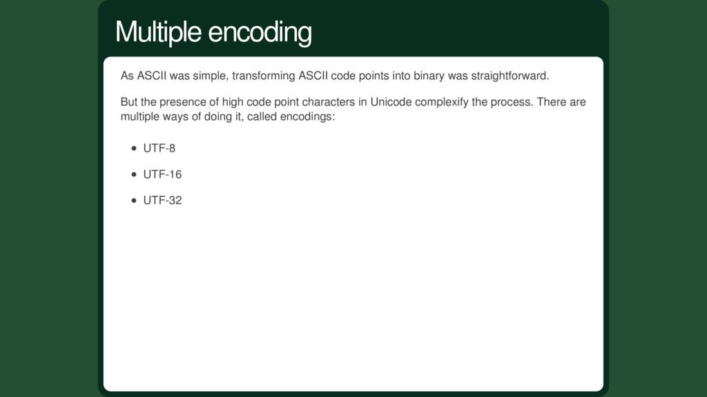 As ASCII was simple, transforming ASCII code po...
