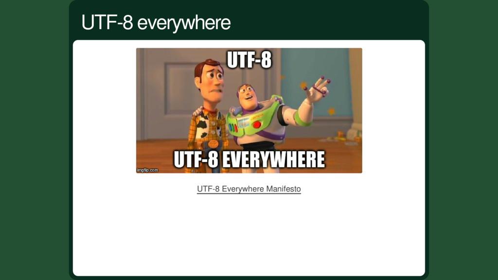 UTF-8 Everywhere Manifesto UTF-8 everywhere