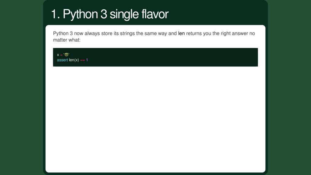 Python 3 now always store its strings the same ...