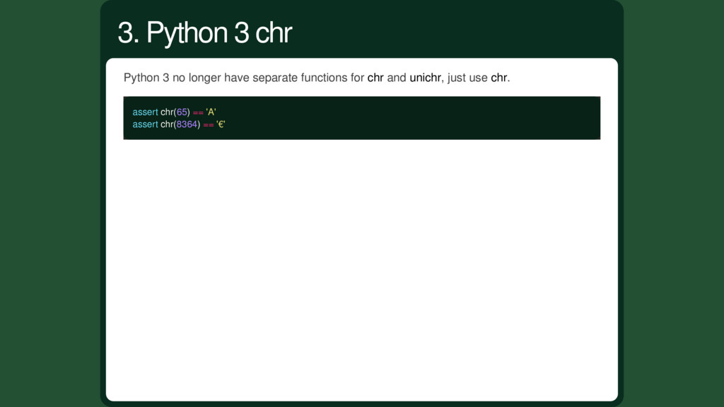 Python 3 no longer have separate functions for ...