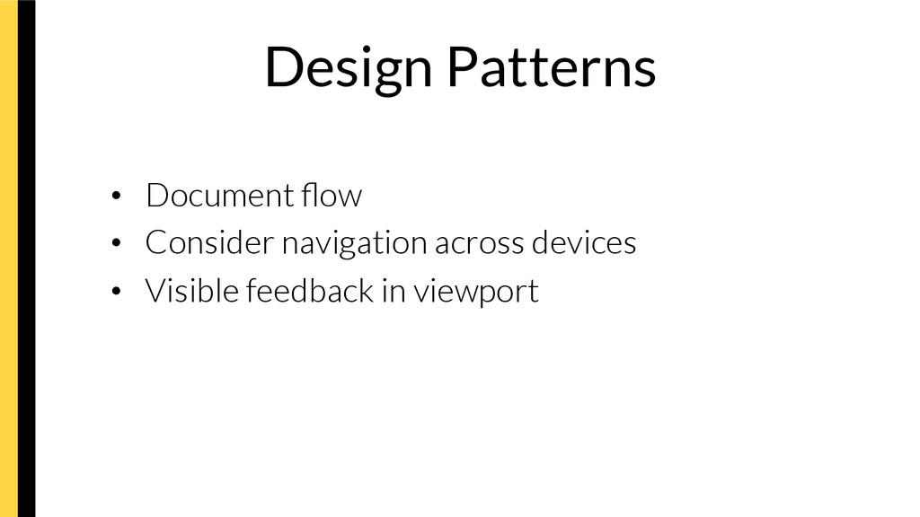 Design Patterns • Document flow • Consider n...