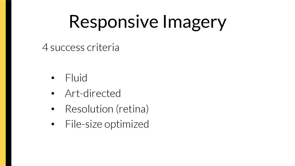 Responsive Imagery 4 success criteria • Flui...