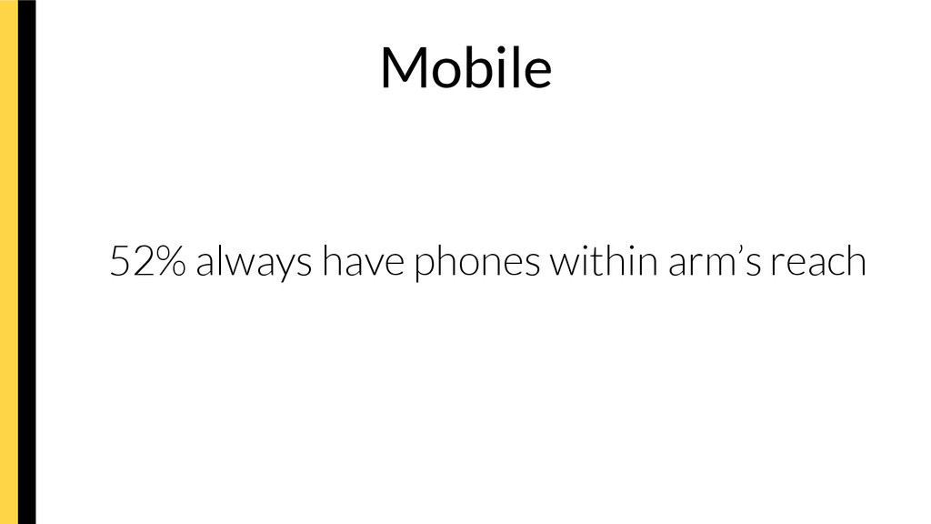52% always have phones within arm's reach ...