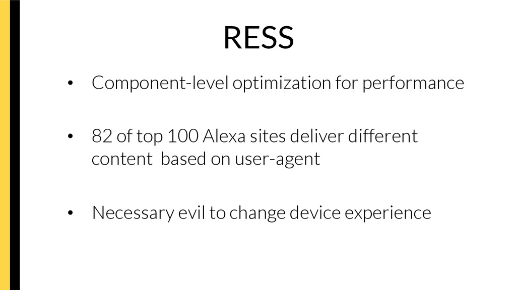 RESS • Component-level optimization for perfo...