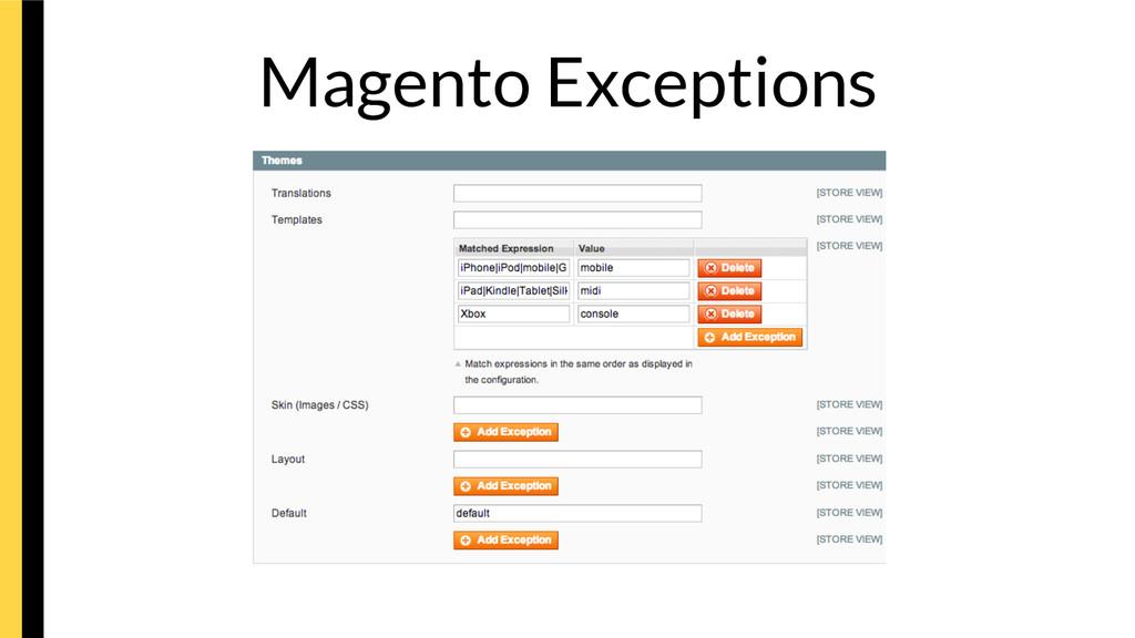 Magento Exceptions