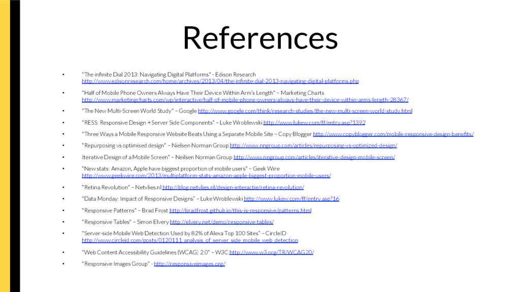 "References • ""The infinite Dial 2013: Navigati..."