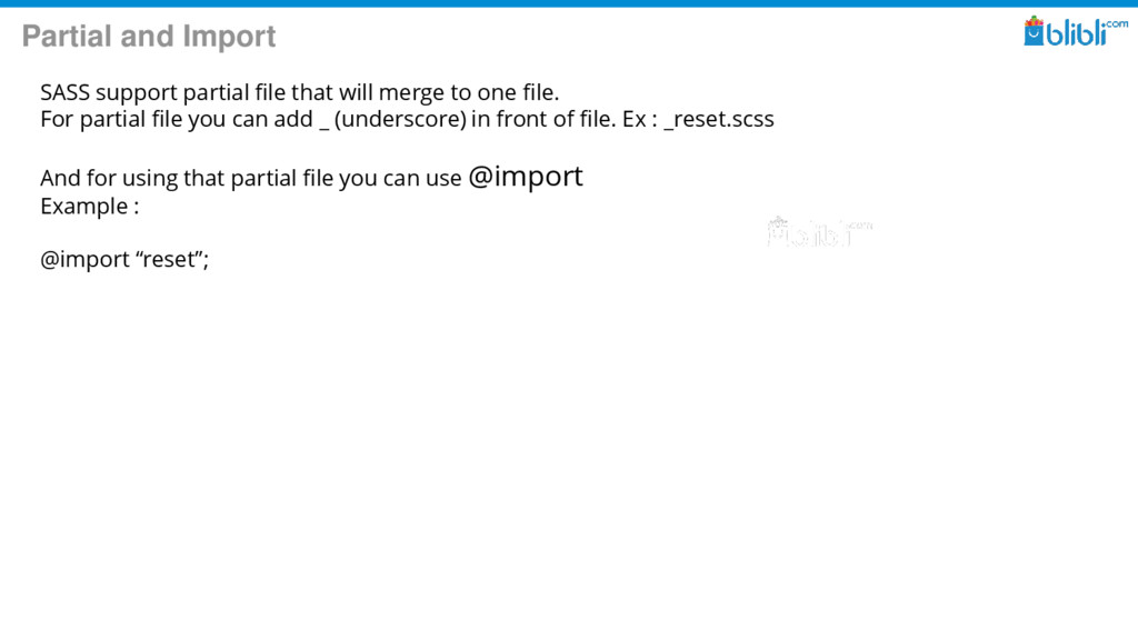 Partial and Import SASS support partial file th...