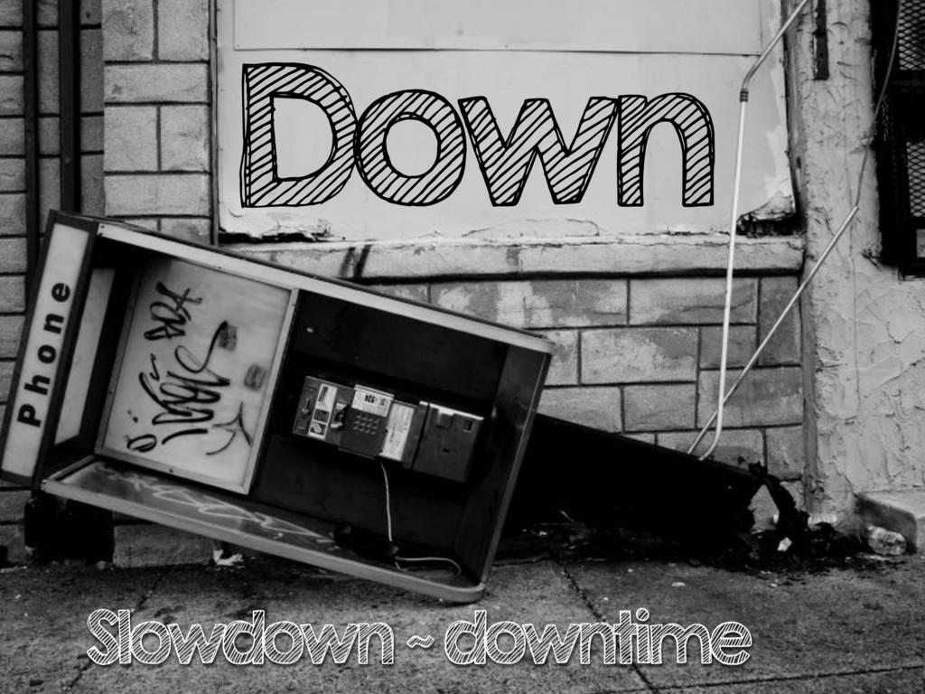 Down Slowdown ~ downtime