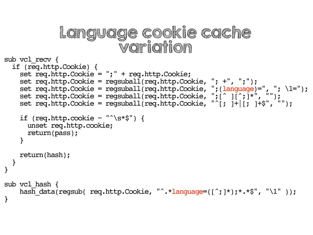 sub vcl_recv { if (req.http.Cookie) { set req.h...