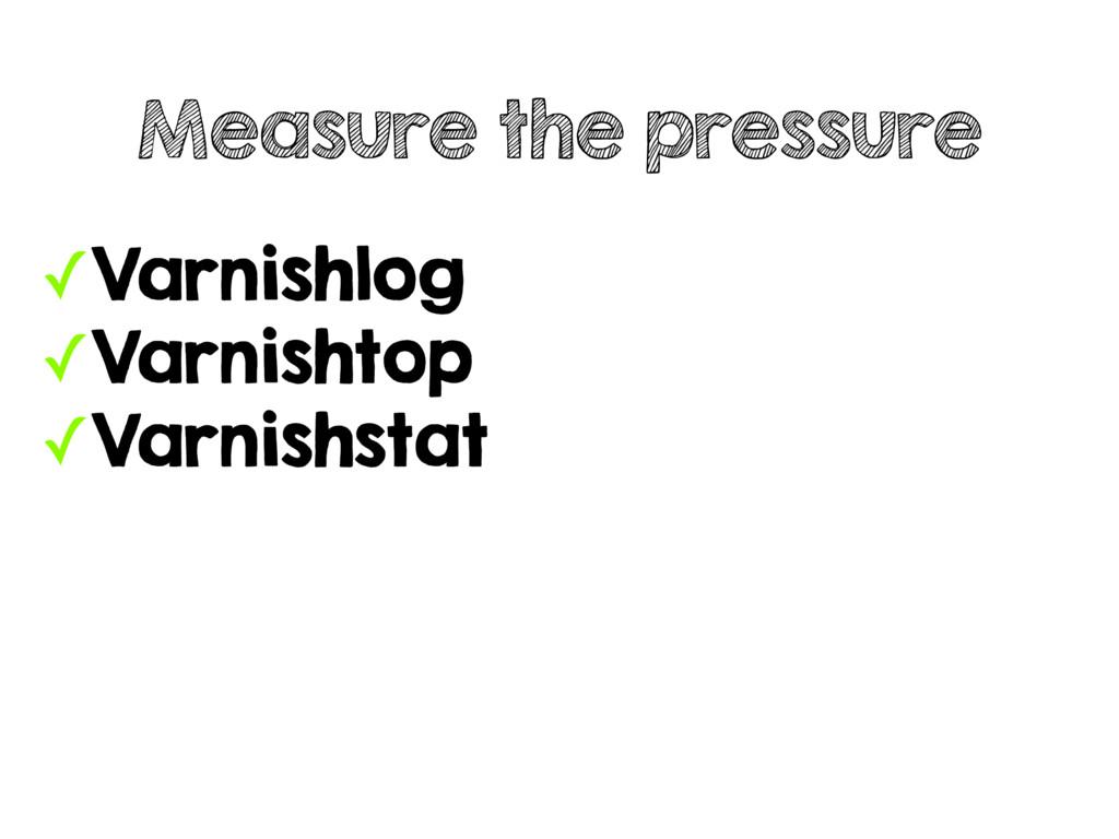 ✓Varnishlog ✓Varnishtop ✓Varnishstat Measure th...