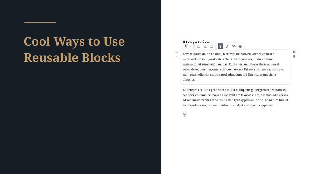 Cool Ways to Use Reusable Blocks