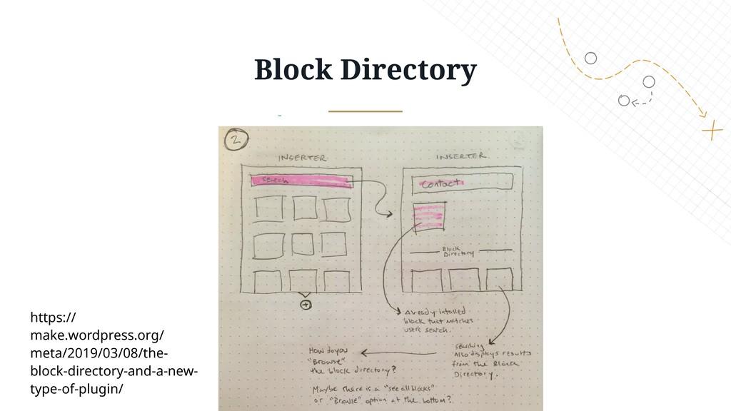 Block Directory https:// make.wordpress.org/ me...