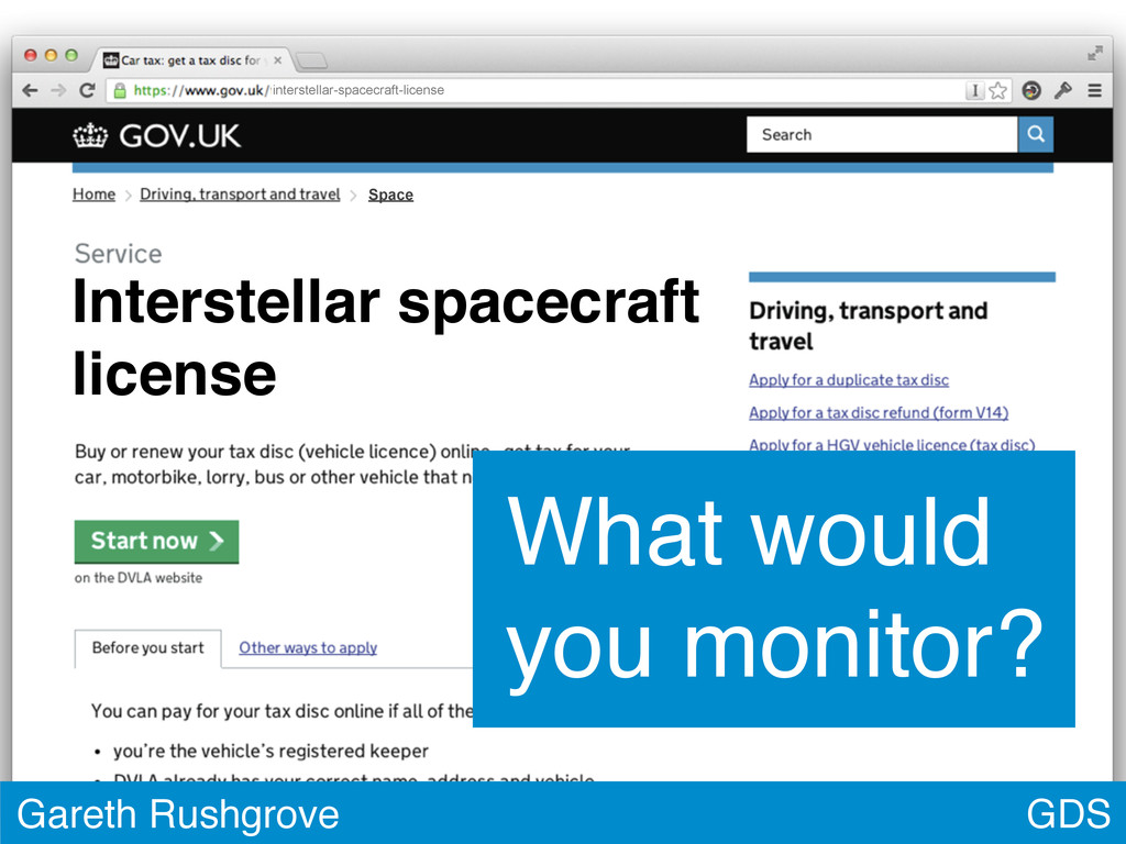 GDS Gareth Rushgrove What would you monitor? In...