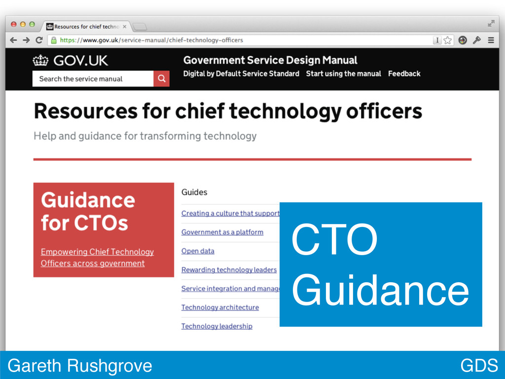 GDS Gareth Rushgrove CTO Guidance