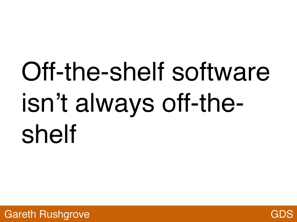 Off-the-shelf software isn't always off-the- sh...